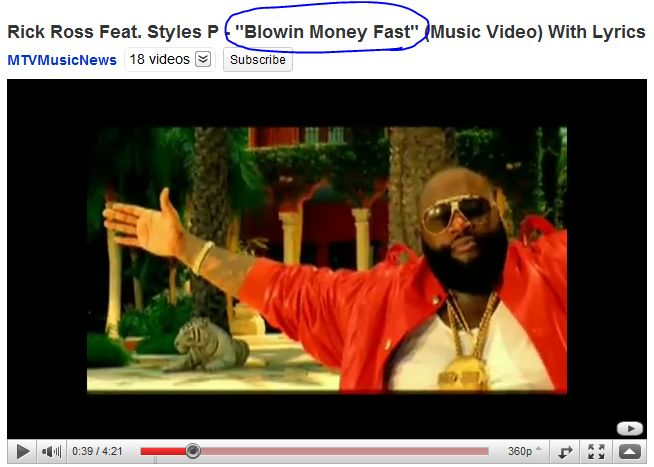 Rick Ross Blowing Money Fast